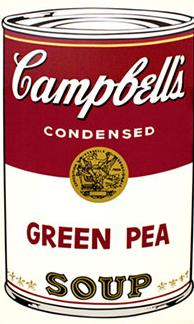 Andy Warhol Campbell's Soup Screen Print (Green Pea)