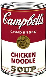 Andy Warhol Campbell's Soup Screen Print (Chicken Noodle)