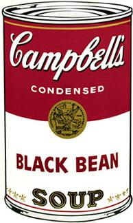 Andy Warhol Campbell's Soup Screen Print (Black Bean)