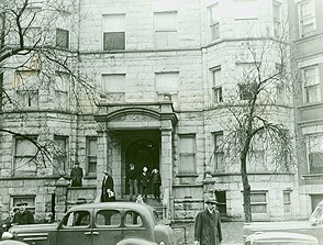 Apartment building where Roger Touhy and members of his gang were captured by the FBI on December 29, 1942.