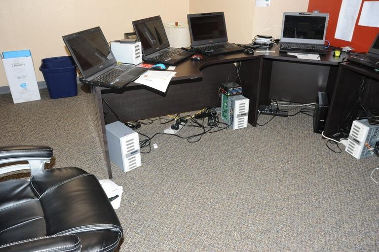 Identity Thief Kenneth Gibsonas Office in Reno Nevada