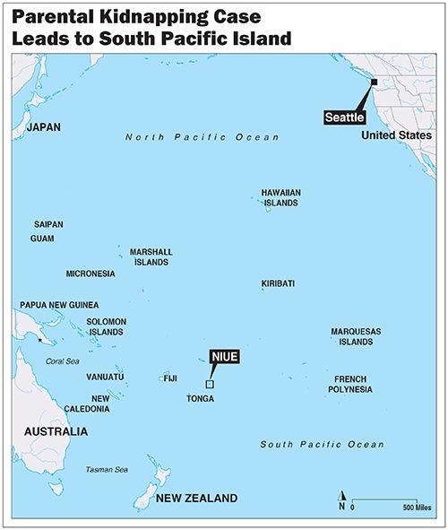 Locator Map of Island of Niue