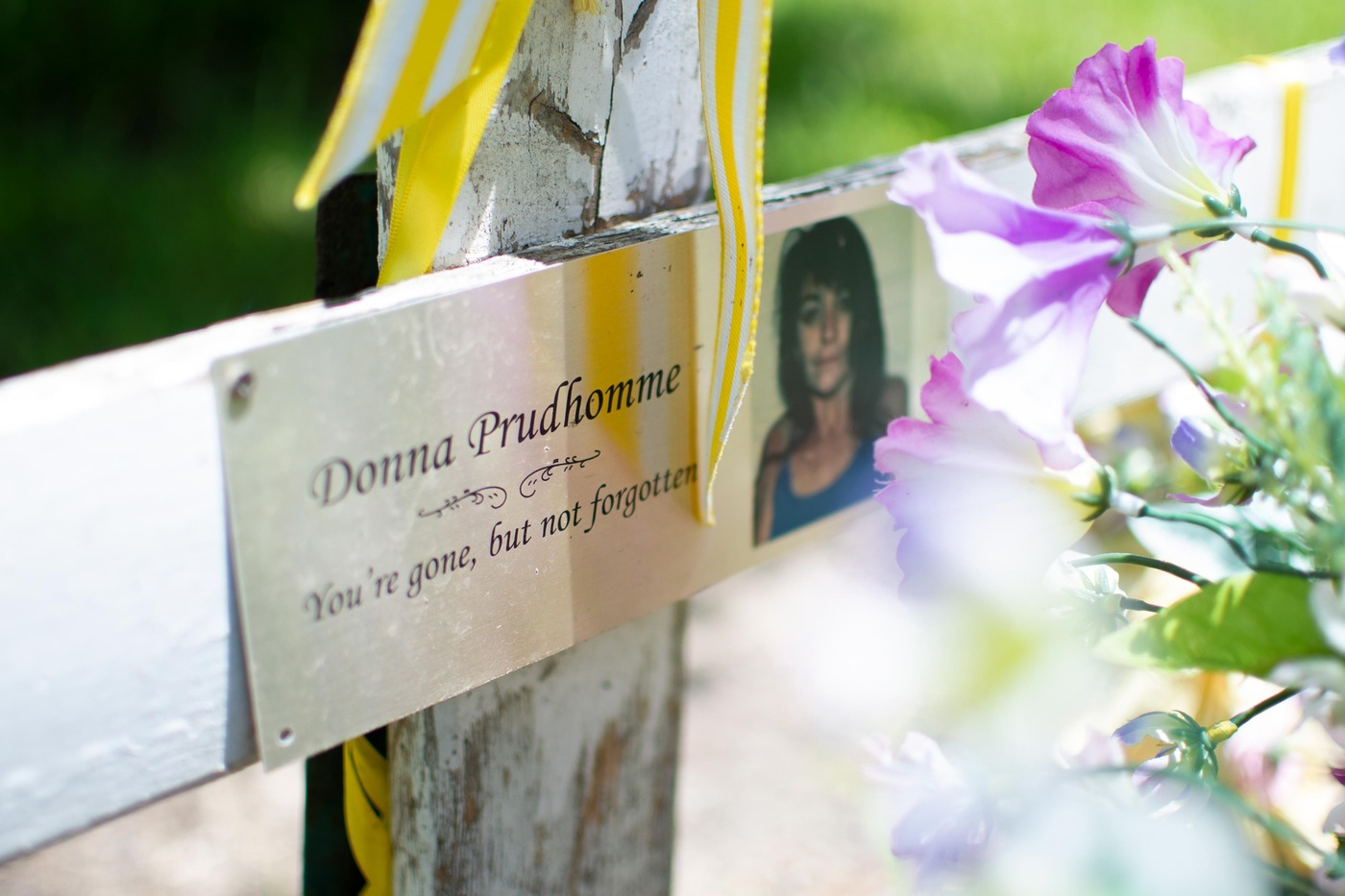 Killing Fields: Marker for Donna Gonsoulin Prudhomme