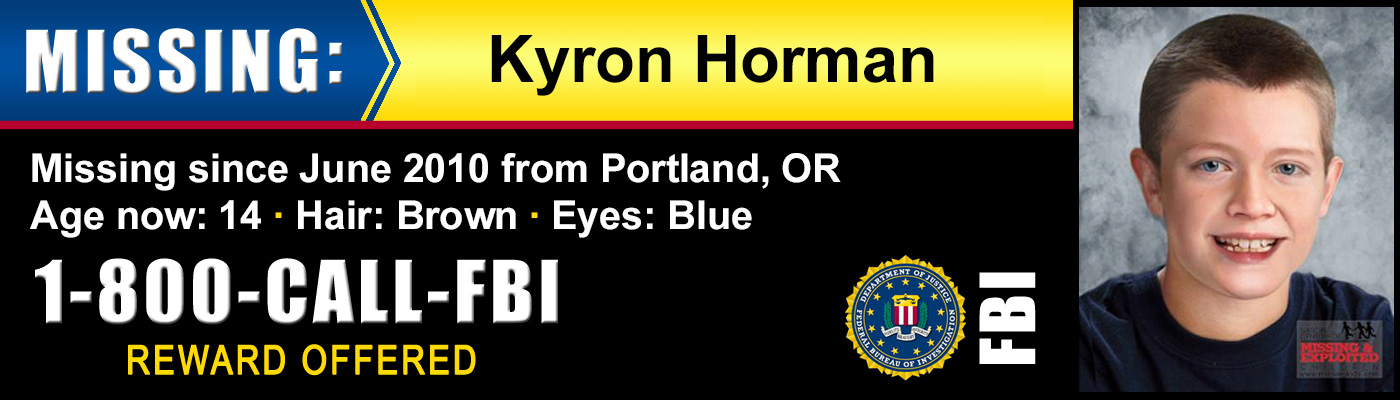 Kyron Horman billboard (Portland missing child case)