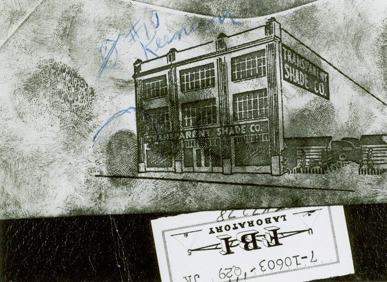 Latent Fingerprint on Envelope in Sinatra Jr. Kidnapping Case