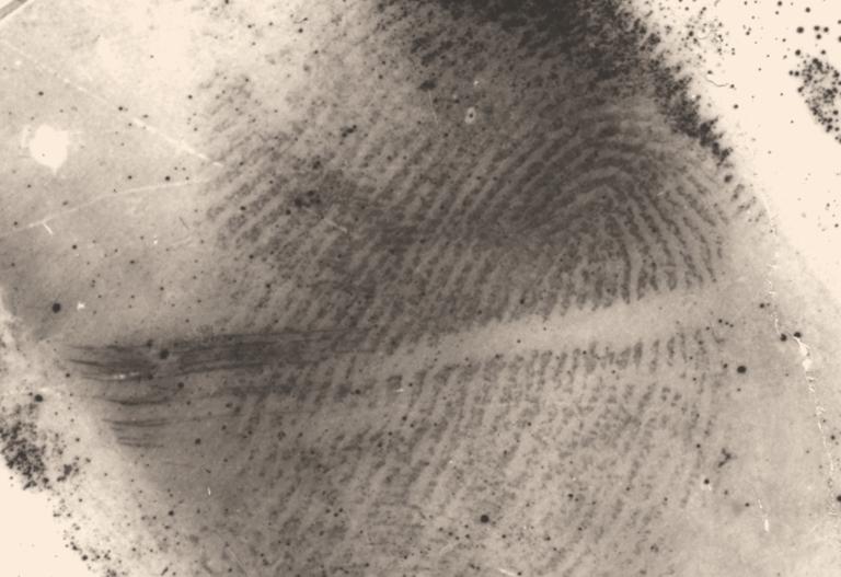 Latent Fingerprint Up Close