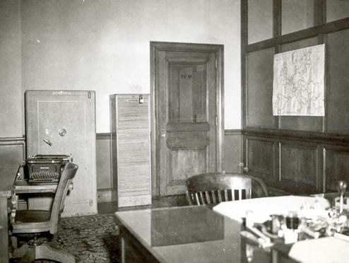 Inside the legal attaché office in Paris circa 1946.