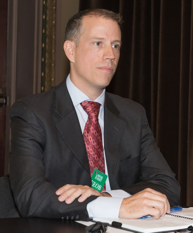 In July 2014, El Salvador Legal Attache Jason Kaplan speaks at the Central American Community Impact Exchange program, which unites civic groups and law enforcement organizations to deter gang violence and criminal activity by helping to keep young people from joining gangs.
