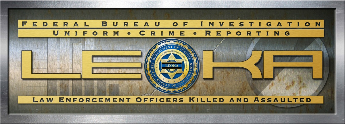 Logo for the FBI's Law Enforcement Officers Killed and Assaulted (LEOKA) statistics, part of the Uniform Crime Reporting (UCR) Program.