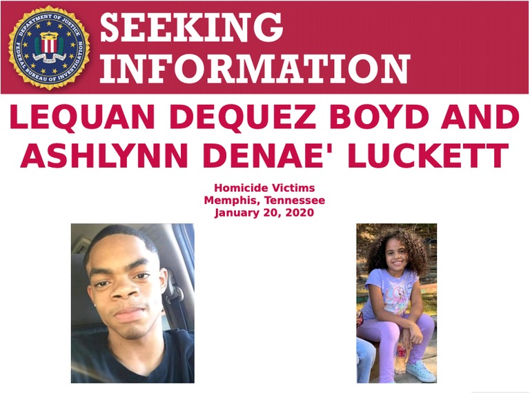 When responding to reports of a shooting on January 20, 2020, Memphis police officers found six-year-old Ashlynn Luckett and sixteen-year-old LeQuan Boyd had been struck by gunfire while they were inside their home. Both died as a result of their injuries.