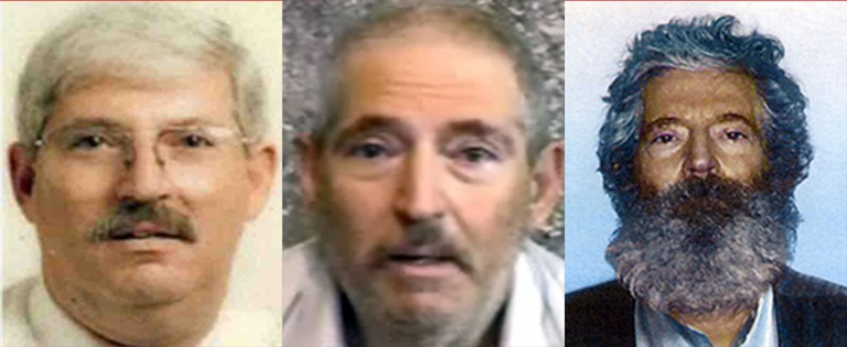 "Three headshots of retired FBI Special Agent Robert A. ""Bob"" Levinson, who went missing on Kish Island in Iran on March 9, 2007."