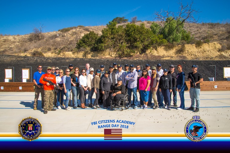 FBI Los Angeles (Westwood) Citizens Academy Class, Range Day, Fall 2018