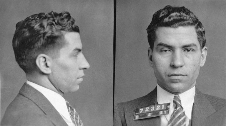 Mugshot of Lucky Luciano