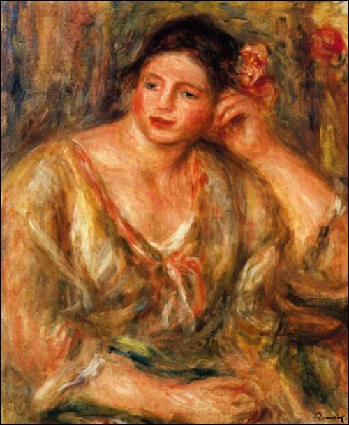 On September 8, 2011, Madeleine Leaning on Her Elbow with Flowers in Her Hair by Pierre Auguste Renoir was stolen during an armed robbery in a Houston home.