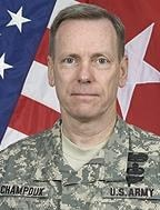 Major Gen. Bernard Champoux, commander of the Armyas 25th Infantry Division, formerly served as deputy chief of staff for operations for NATO forces in Afghanistan.