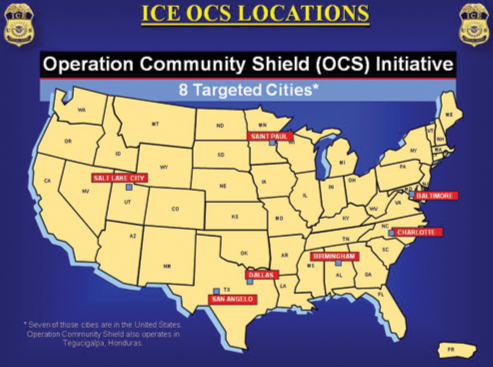 The 8 Targeted cities of the OCS Initiative