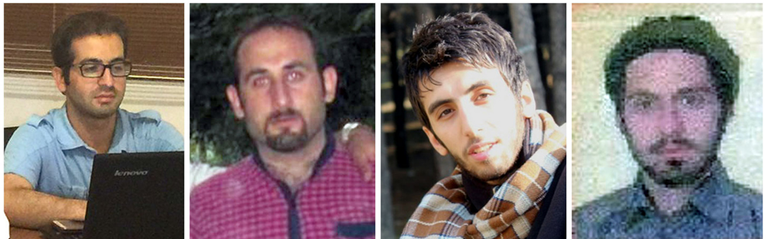 Composite image of Iranian cyber conspirators Mojtaba Masoumpour, Behzad Mesri, Hossein Parvar, and Mohamad Paryar, who are wanted for their alleged involvement in criminal activities to include computer intrusion and aggravated identity theft.