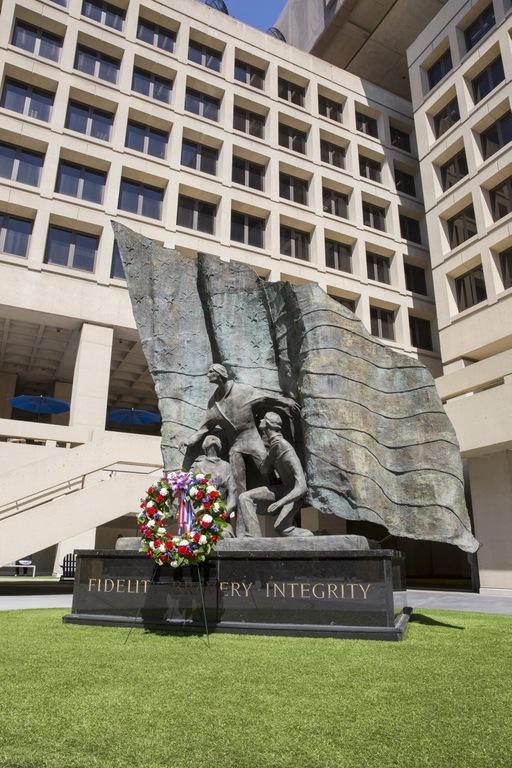 Memorial Wreath at FBI Headquarters