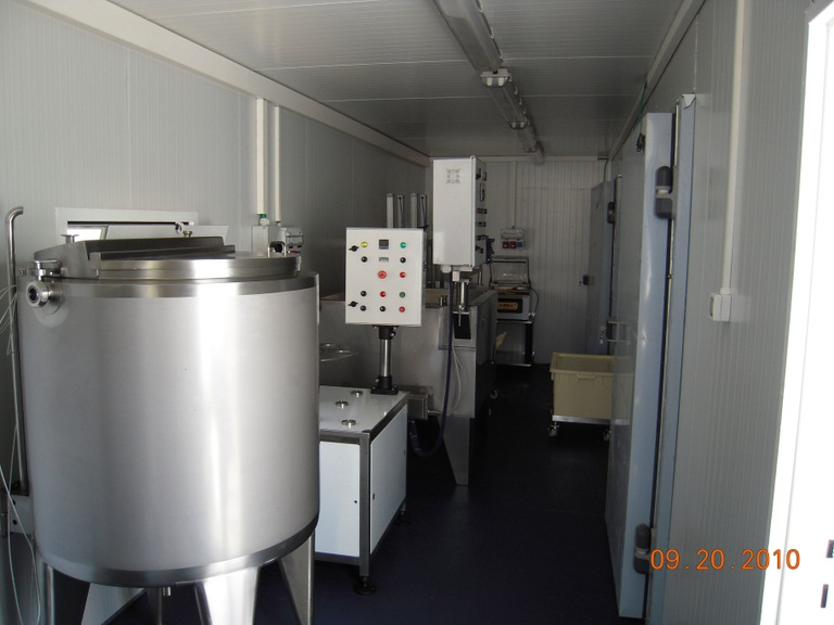 The inside of a micro-dairy by Xtreme Global Logistics Solutions (XGLS).