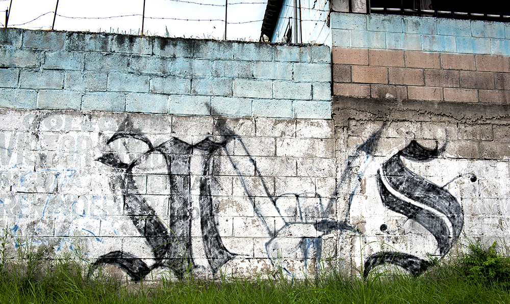 MS13 Graffiti on Wall in El Salvador