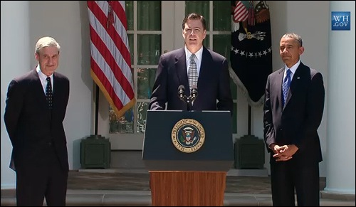 James Comey speaks at the White House on June 21, 2013 following his nomination by President Barack Obama to be the next Director of the FBI when Director Robert S. Mueller's term ends on September 4, 2013.
