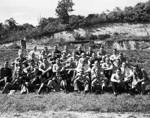 National Academy Students on Range in 1936