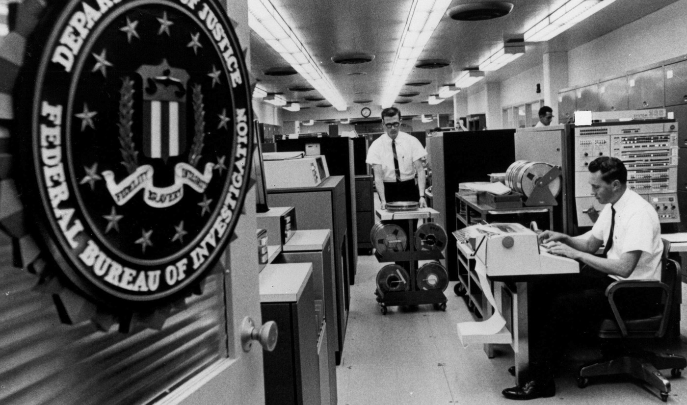 On January 27, 1967, the FBI launched the National Crime Information Center, or NCIC, an electronic clearinghouse of criminal justice information (mug shots, crime records, etc.) that can be tapped into by police officers in squad cars or by police agencies nationwide.