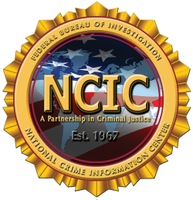 Seal of the FBI's National Crime Information Center (NCIC) with the motto, A Partnership in Criminal Justice, Est. 1967.