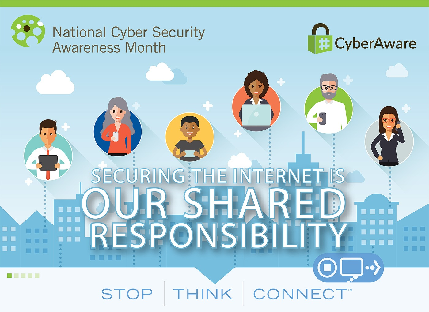 Graphic depicting logo for National Cyber Security Awareness Month 2017