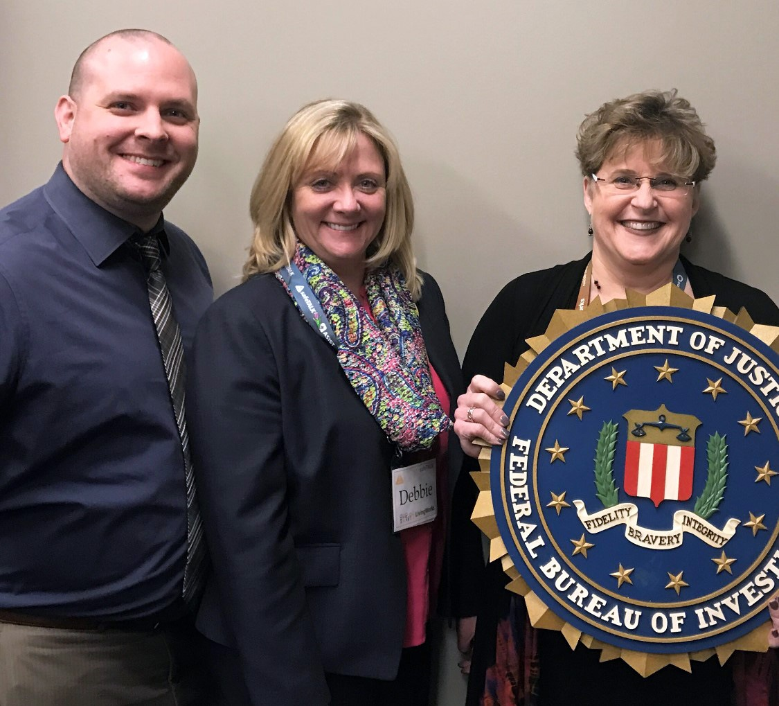FBI New York 2019 Director's Community Leadership Award recipient Trainers United on Long Island for the Prevention of Suicide.