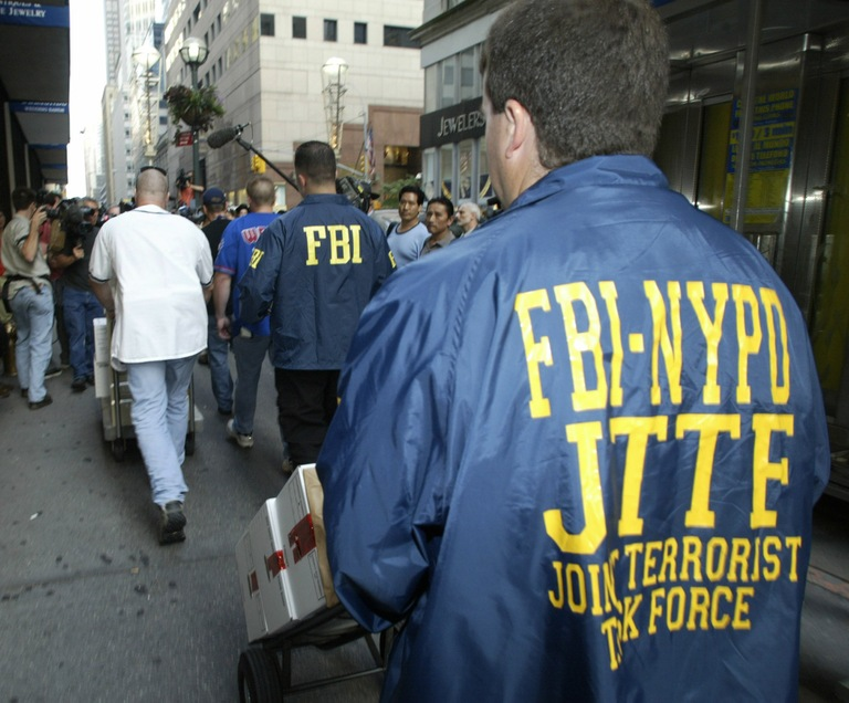 New York Joint Terrorism Task Force Members Remove Files (Reuters Photo)