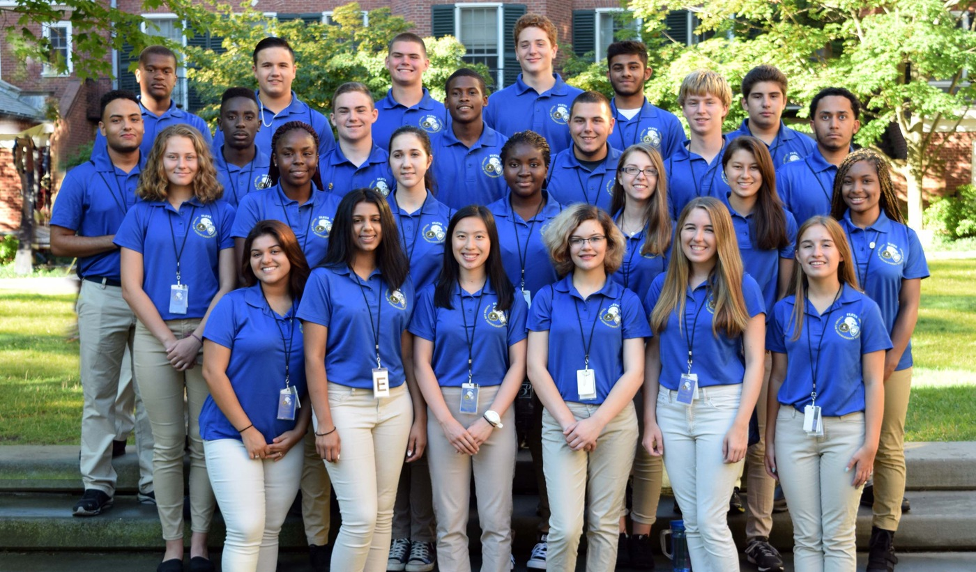 Graduates of the 2016 New Haven Law Enforcement Youth Academy.