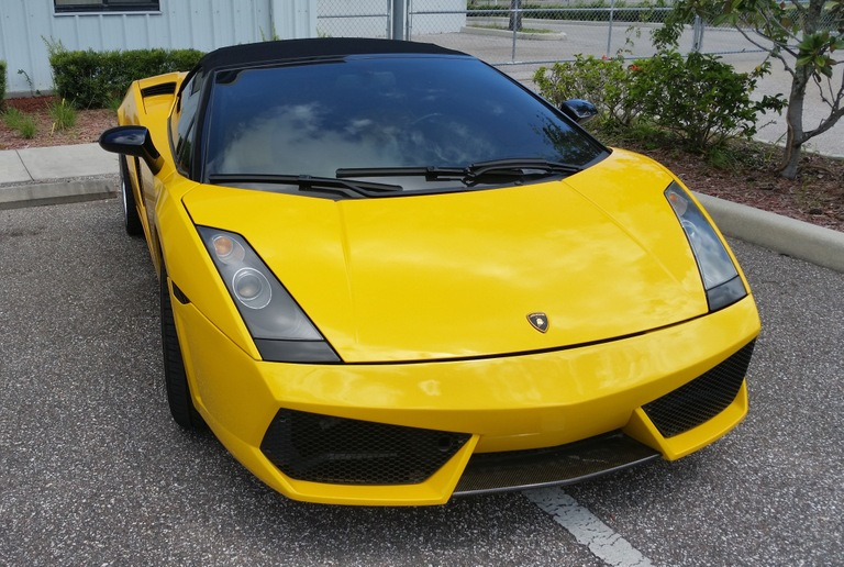 This yellow Lamborghini Gallardo was among the assets seized from Nicholas Borgesano, Jr., in connection with his $100 million compounding pharmacy fraud scheme.