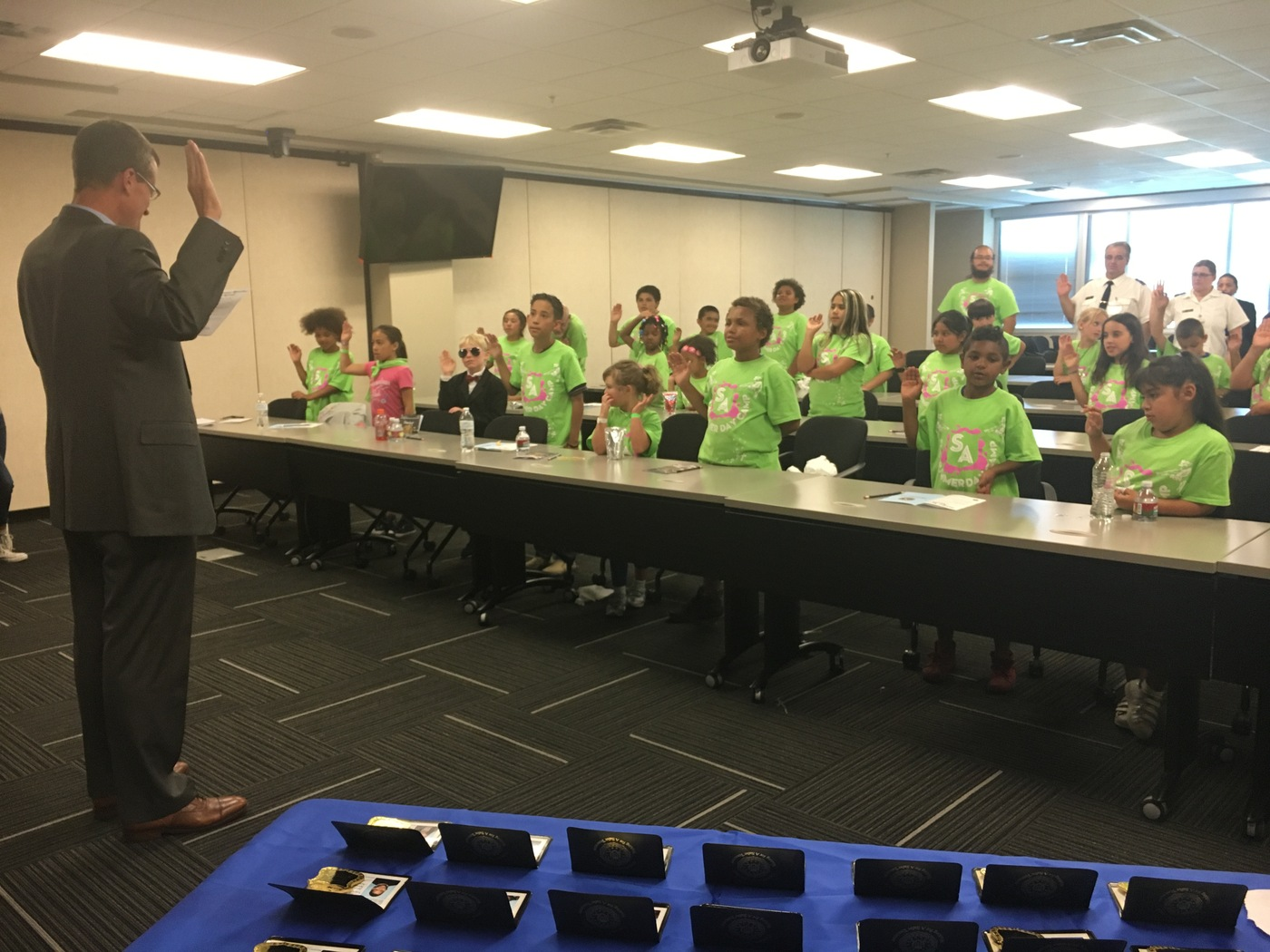 Salt Lake City Junior Special Agents take the oath of office.