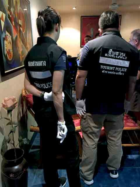 Police officers in Thailand participate in Operation Cross Country X, the FBI's annual law enforcement action focused on recovering underage victims of prostitution.