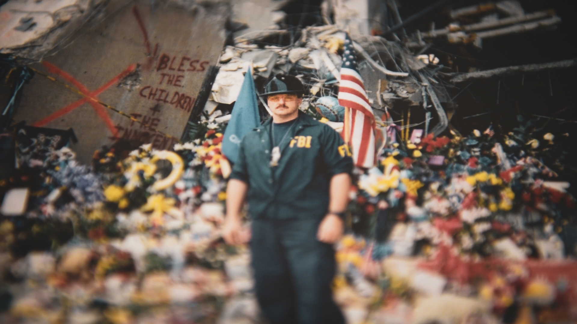 Barry Black Amid Debris After Oklahoma City Bombing