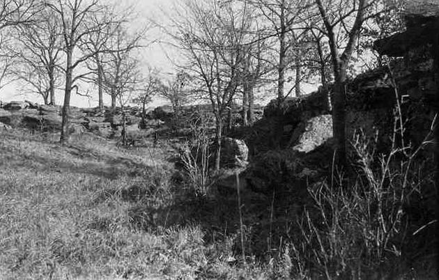 Ravine in Osage Hills, Oklahoma, where the murdered body of Anna Brown was found, part of the FBI's Osage Hills Murders investigation.