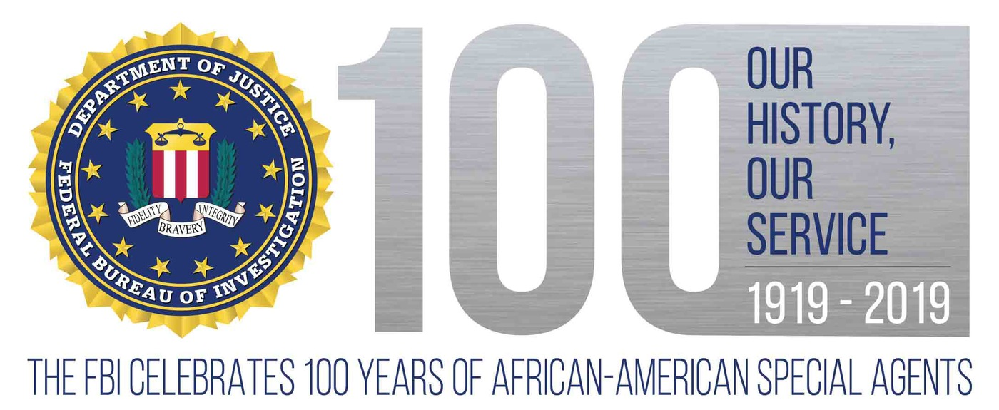 Logo for 100-year anniversary celebration of African-American special agents.
