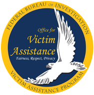 Seal of the Office for Victim Assistance Program with motto Fairness, Respect, Privacy.