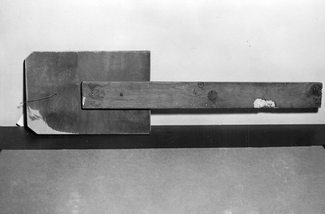 The inmates made wooden paddles to facilitate their escape. The brass bolts used in the construction of this paddle are identical to those used in a paddle that washed up on the shore of Angel Island, just over a mile from Alcatraz.