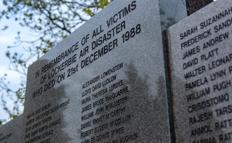 Pan Am 103, Dryfesdale Cemetery Memorial, Lockerbie (Close)