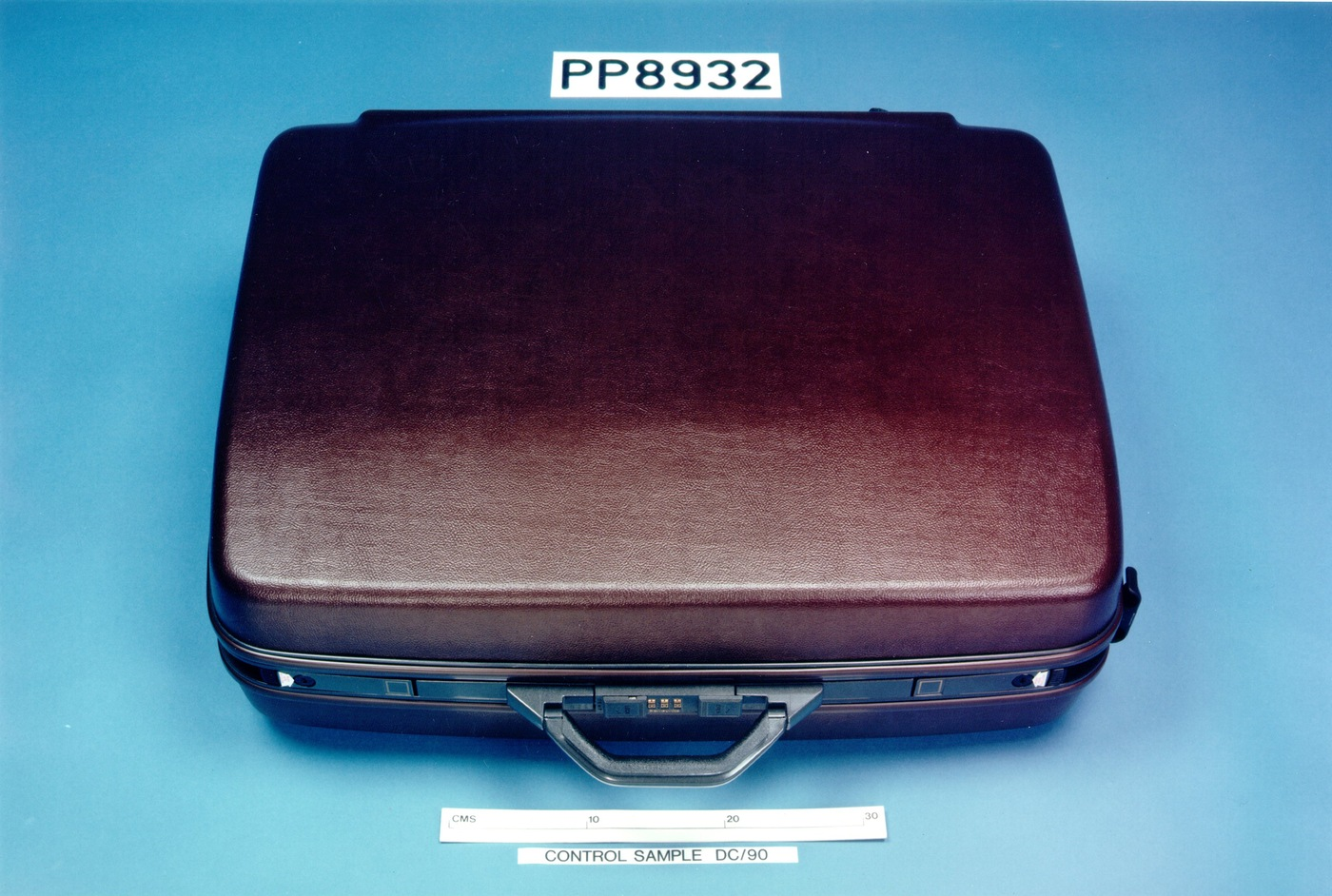 Replica of the suitcase that contained the explosives used in the December 21, 1988 bombing of Pam Flight 103 over Lockerbie, Scotland. (Syracuse University photo)