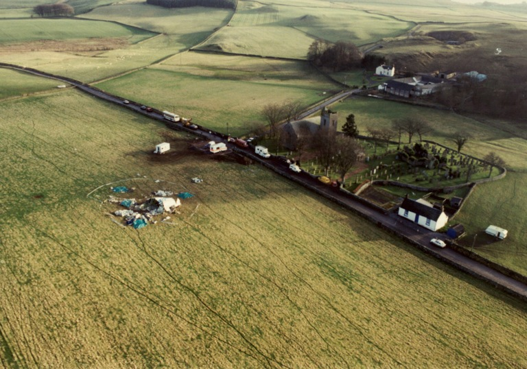 Pan Am 103 Overhead View of Field, Tundergarth, Scotland