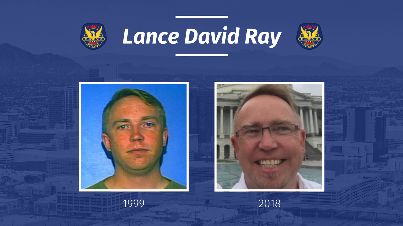 The Phoenix Police Department, Peoria Police Department, and FBI are asking for the public's help in seeking potential victims and additional information about an alleged sexual offender and homicide suspect Lance David Ray. Images from Phoenix Police Department