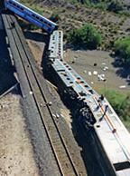 The derailment of the Sunset Limited passenger train occurred on October 9, 1995, around 1:35 a.m. in a remote desert area approximately 70 miles southwest of Phoenix, Arizona. A reward of up to $310,000 is being paid collectively by multiple entities.
