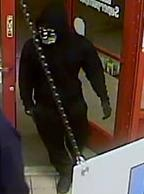 Two people, dubbed the Late Night Bandits, who were involved in dozens of gas station and convenience store robberies stretching from Queen Creek to Sun City between December 20, 2015 and February 9, 2016. One of the suspects remains at large and is pictured here.