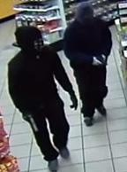 Two people, dubbed the Late Night Bandits, who were involved in dozens of gas station and convenience store robberies stretching from Queen Creek to Sun City between December 20, 2015 and February 9, 2016. One of the suspects remains at large.