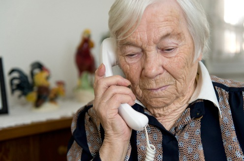 Elderly Woman on Telephone