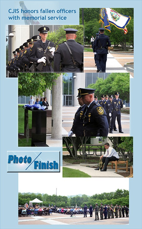 The Criminal Justice Information Services Division honored fallen enforcement officers with a memorial service in May 2014 (from CJIS Link article).
