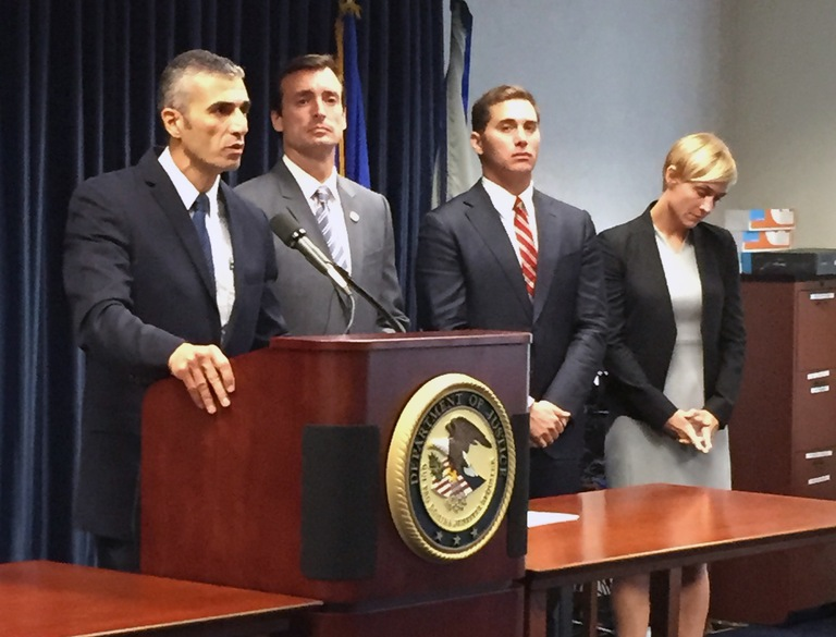 George Piro, special agent in charge of the FBI's Miami Field Office, speaks during a July 22, 2016 press conference announcing charges against three Miami-area health care providers in a case with losses in excess of $1 billion.
